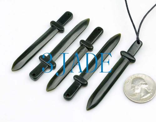 jade sword necklace