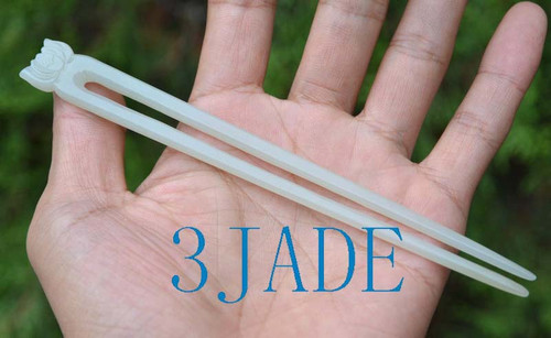 jade hair stick