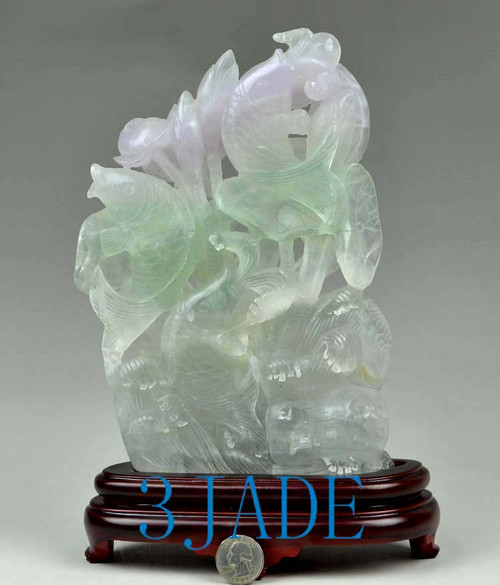 fluorite crystal Carving
