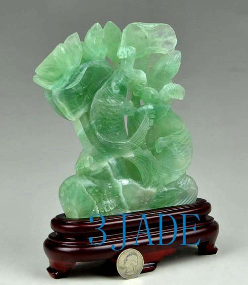 fluorite crystal fish