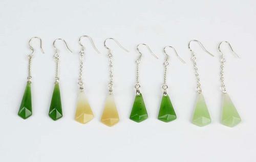 Hetian nephrite jade earrings