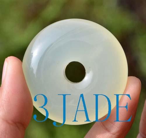 Serpentine Donut / Disc Pendant