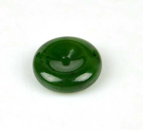 Natural green nephrite jade donut disc bead circle pendant natural green nephrite jade donut disc bead circle pendant necklace g026513 mozeypictures Choice Image