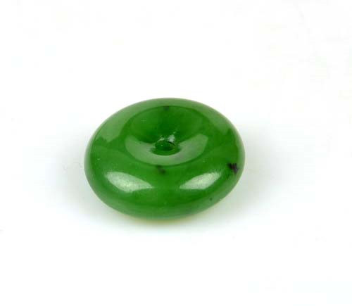 green nephrite jade donut bead