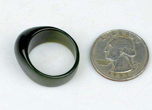 green nephrite jade ring