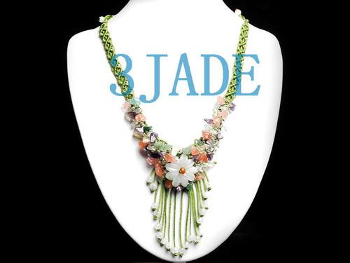 jadeite flower necklace