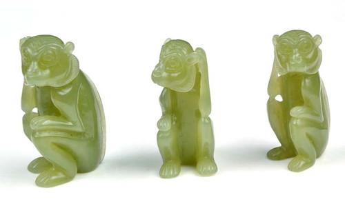 jade monkey figurine