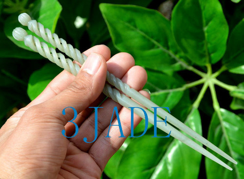jade twisted hairpin