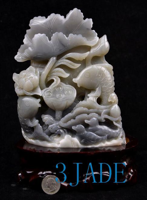Hetian jade Koi fish