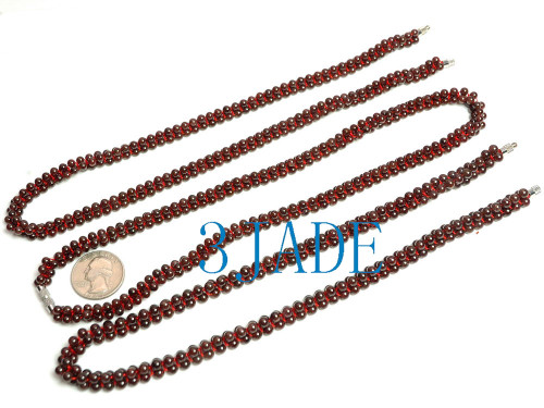 4mm beads necklace
