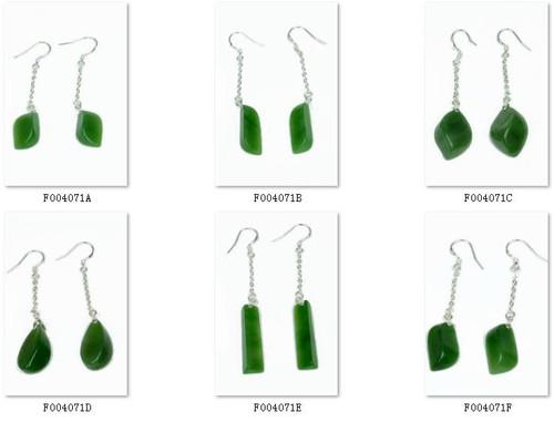 green nephrite jade earrings