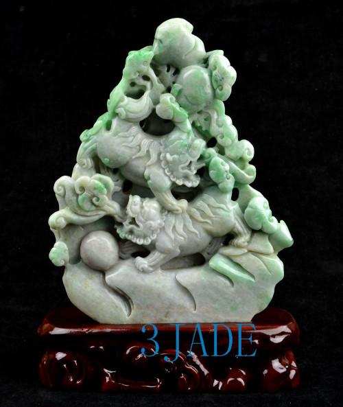 A grade jade Foo Dogs