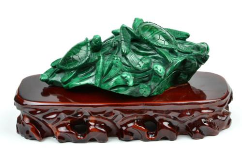 malachite turtle statue