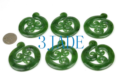 Greenstone Triple Koru Pendant
