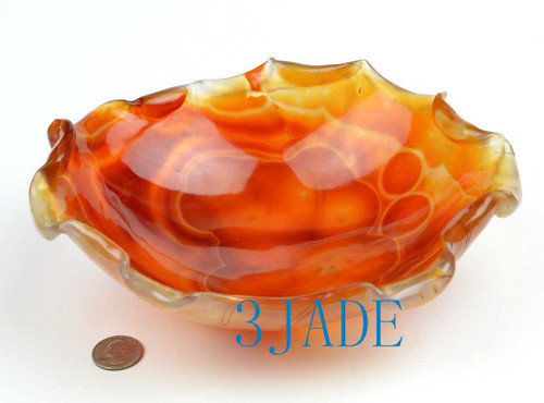 Red Agate Fruit Tray