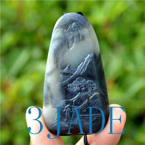 Hetian Qinghua seed jade pendant