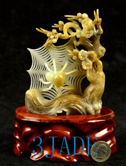 Hetian sugar white jade spider web