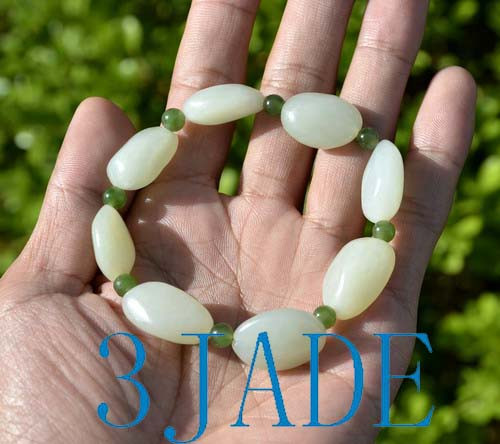 Jade Nugget Beads Bracelet