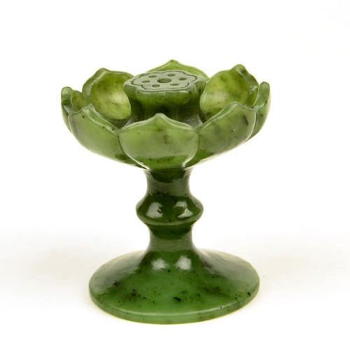 green jade incense holder