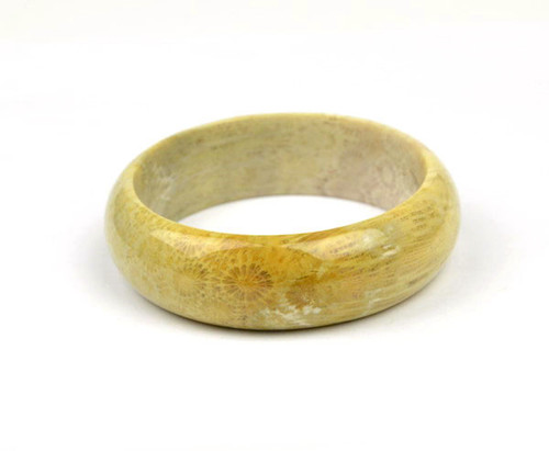 Fossil Coral Gemstone Bangle