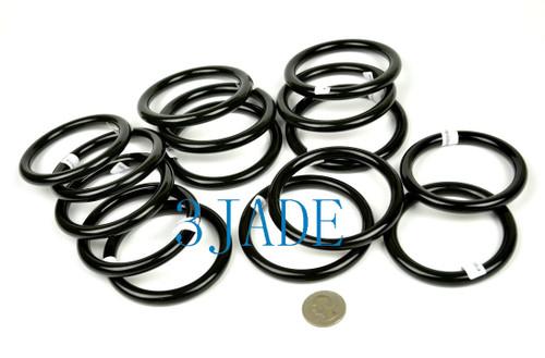 56mm-64.5mm Natural Black Nephrite Jade Round Bangle Bracelet w/ certificate