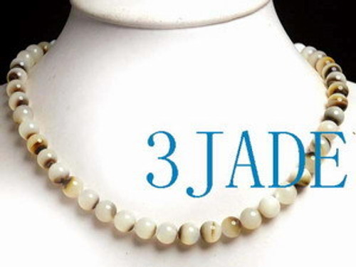 """16""""  Natural Sea Shell Round Beads Necklace"""