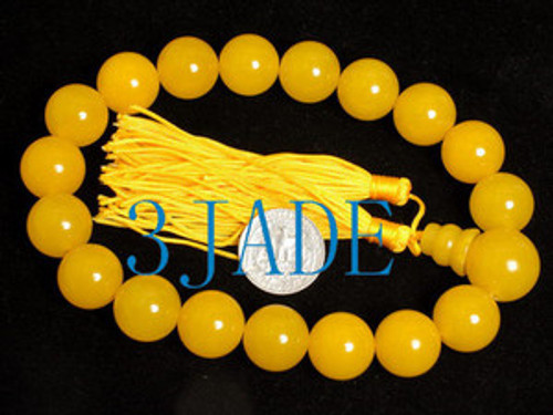 Yellow prayer beads