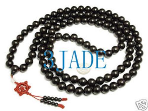 black prayer beads