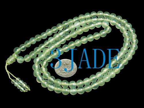 "31"" Natural Xiu Jade/Serpentine Mantra Meditation Buddhist 108 Prayer Beads Mala"