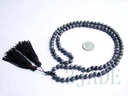 obsidian prayer beads