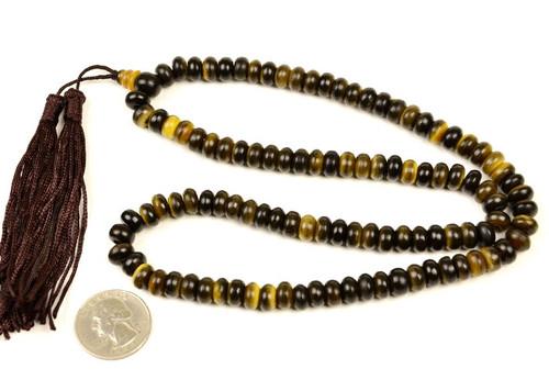 """21"""" Bovine Horn 108 Prayer Beads Meditation Mantra Buddhist Mala"""