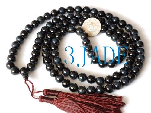 blue prayer beads
