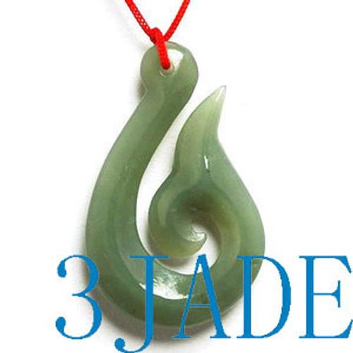 Jade hook pendant