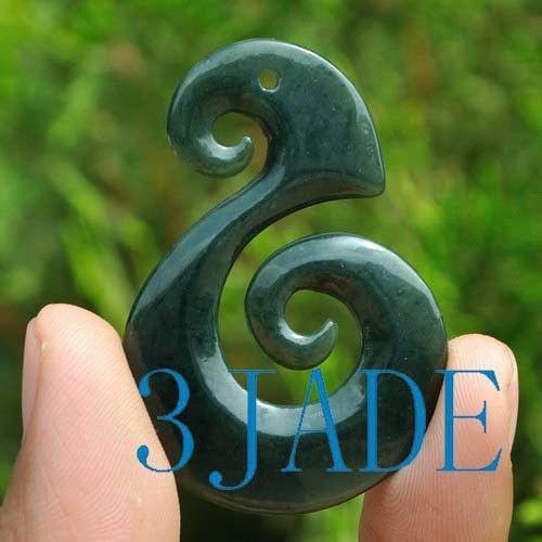 jade spiral Pendant