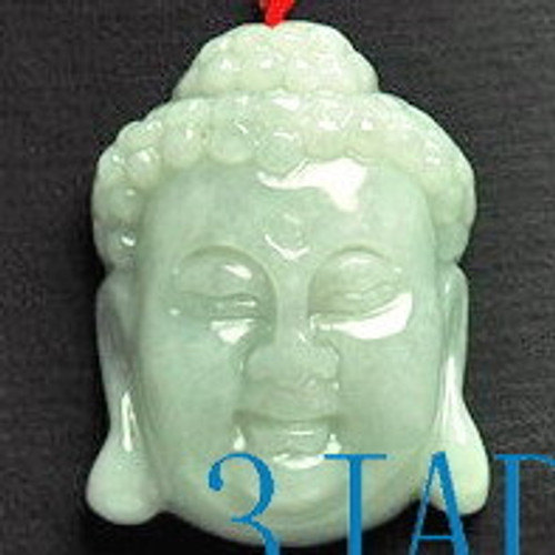 Hand Carved Natural Jade / Jadeite Buddha Pendant