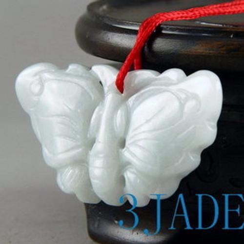 A Grade Natual Jadeite Jade Butterfly Figurine / Pendant