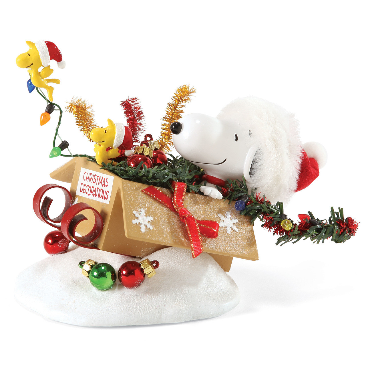 One Bird Open Sleigh With Snoopy And Woodstock Clothtique Joe