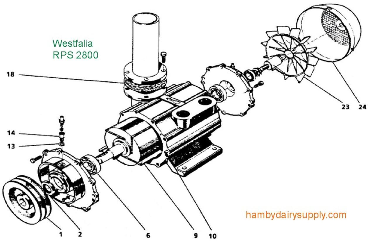 repair parts for westfalia 2800 vacuum pump