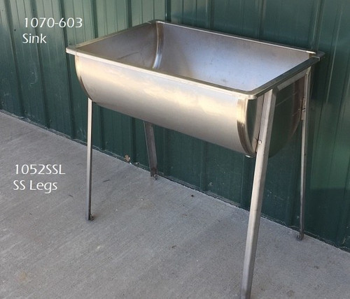 stainless leg set for double or single wash sinks - Wash Sink