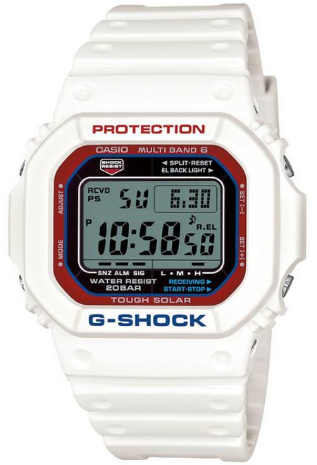 G-Shock GW-M5610TR-7JF White Tricolor Series