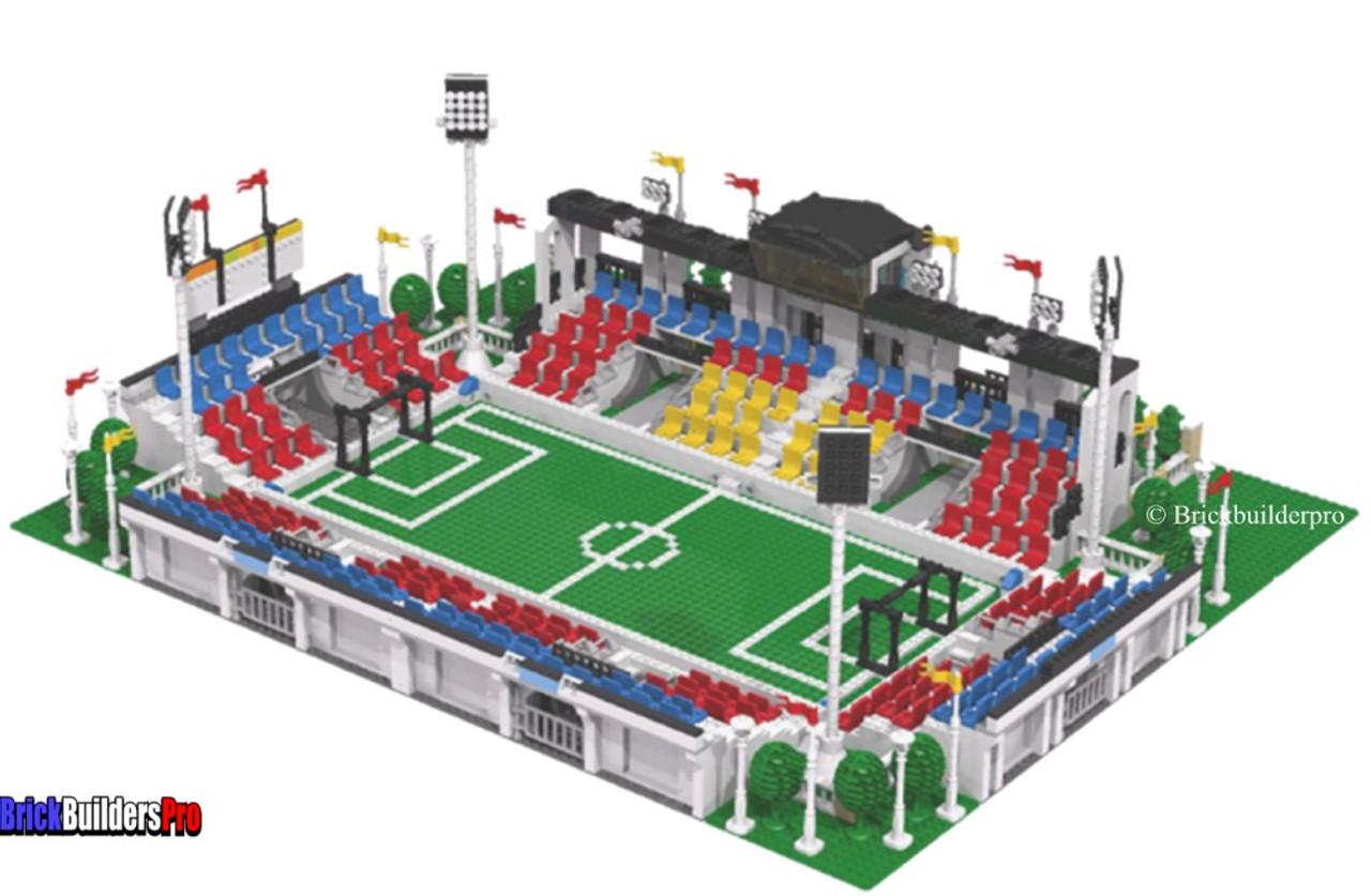 Soccer Football Stadium Pdf Instructions Brickbuilderspro Store