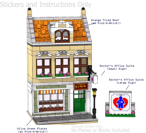 Oss Doctors Clinic Pdf Lego Instructions And Sticker Pack