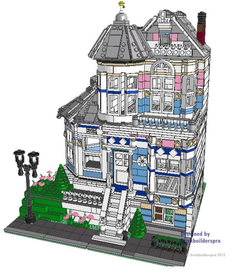 Painted Lady Victorian Pdf Instructions Brickbuilderspro Store