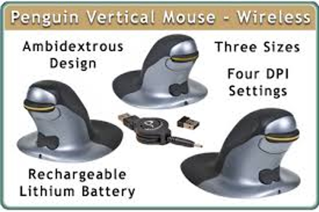 Penguin vertical Stick mouse Large wireless