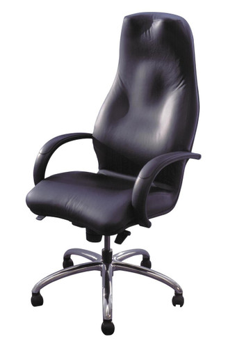 Leather synchro arm chair