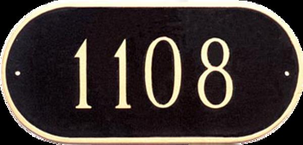 Oblong Address Plaque