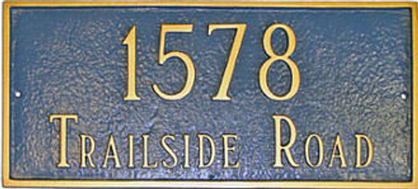 Classic Rectangle Address Plaque (Estate Size)