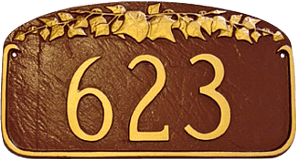Address Number Plaque – Ivy Leaf Design