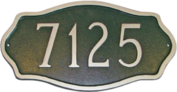 Hampton Address Plaque (Estate Size)