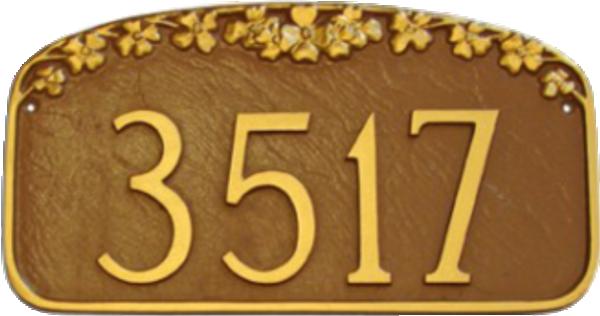 House Number Plaque – Dogwood Flower Design